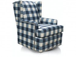 Shipley Swivel Chair with Nails