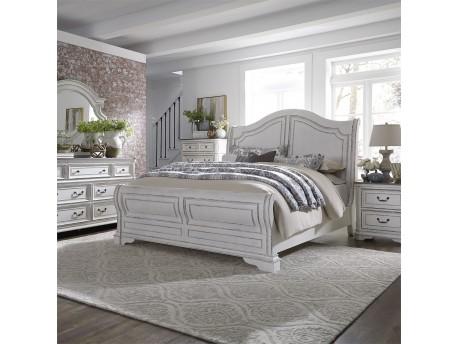 Magnolia Manor Queen Sleigh Bed, Dresser & Mirror, Chest, Night Stand