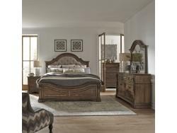 Haven Hall Queen Panel Bed, Dresser & Mirror, Chest, Night Stand
