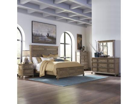 The Laurels Queen Panel Bed, Dresser & Mirror, Chest, Night Stand