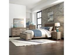 Sun Valley King California Storage Bed, Dresser & Mirror, Chest, Night Stand