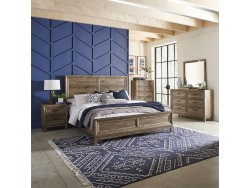 Ridgecrest King Panel Bed, Dresser & Mirror, Chest, Night Stand