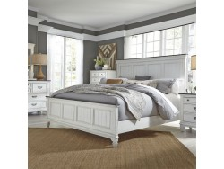 Allyson Park King California Panel Bed, Dresser & Mirror, Chest, Night Stand