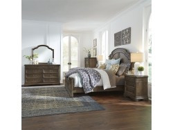 Homestead King Panel Bed, Dresser & Mirror, Chest, Night Stand