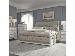 Abbey Park King California Sleigh Bed, Dresser & Mirror, Chest, Night Stand