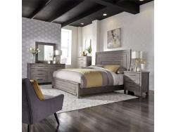 Modern Farmhouse Queen Panel Bed, Dresser & Mirror, Chest, Night Stand