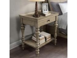 Corinne Wood Top Leg Nightstand