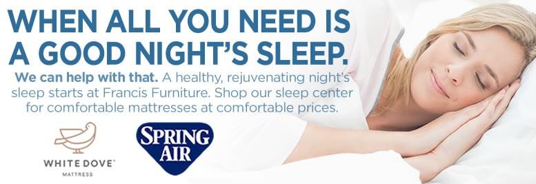 A good night's sleep.